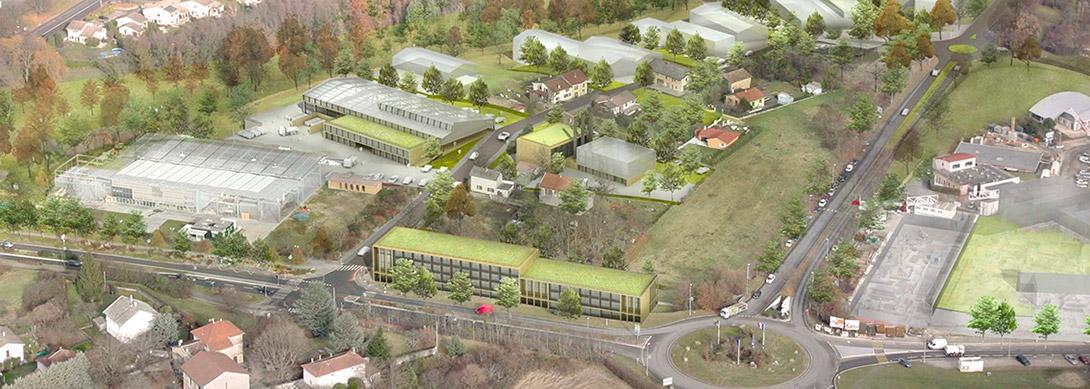 Campus de la construction durable ZAC à Saint-Bonnet-le-Haut