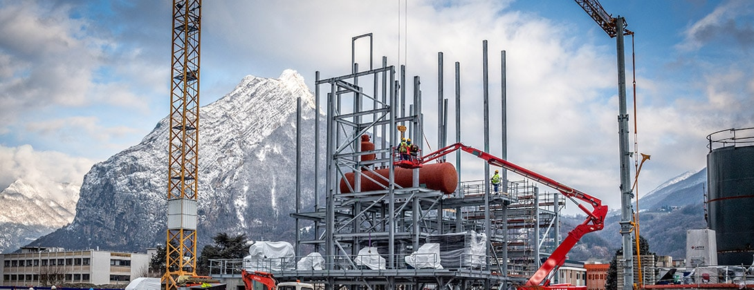 """Nouvelle Unité de Production de chaleur (Biomax) surlaZAC """"Presqu'île"""" à Grenoble"""