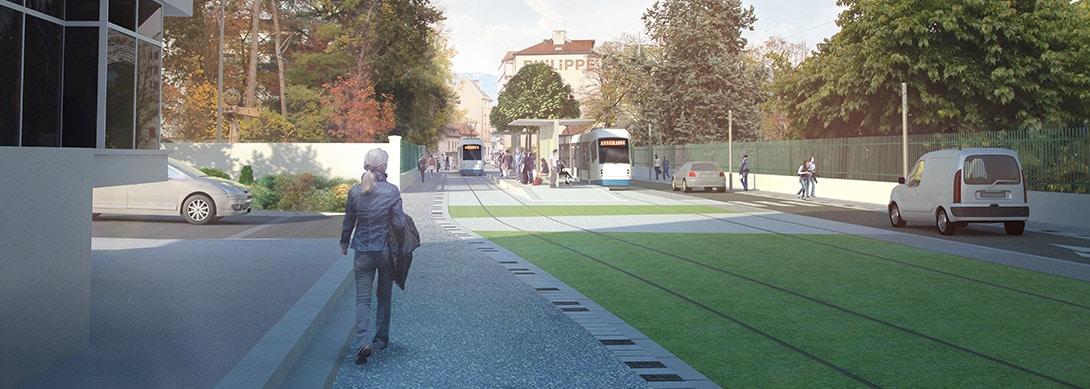 Extension d'une ligne de Tramway entre la frontière genevoise et Annemasse (74)