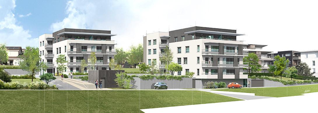 Construction de 39 logements à destination d'unbailleur social à L'Isle d'Abeau