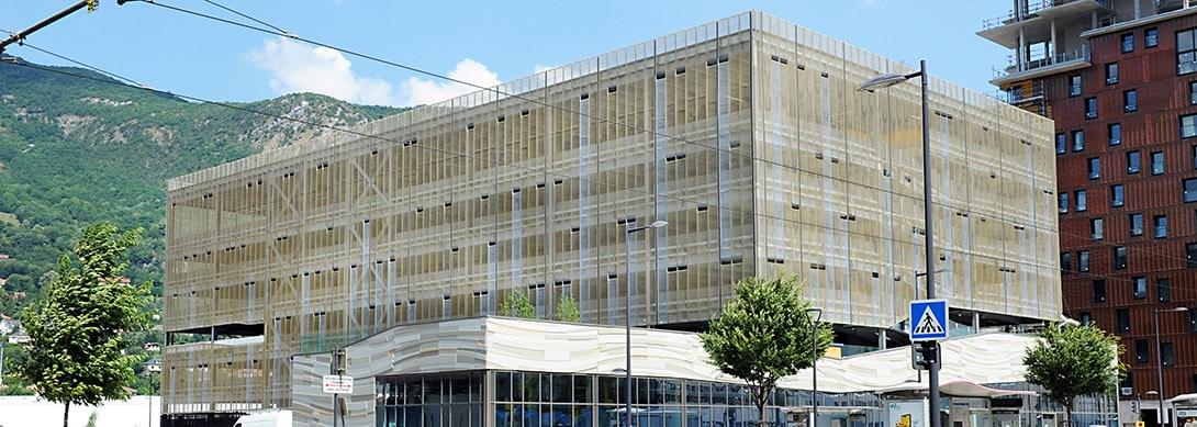 Construction du Pavillon de la Mobilité à Grenoble