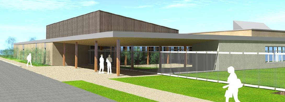 Construction d'un groupe scolaire et d'une salle polyvalente à Les Éparres