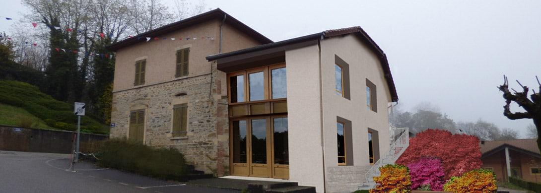 Réhabilitation de la maison Maritano en salle socio‑culturelle à Charantonnay