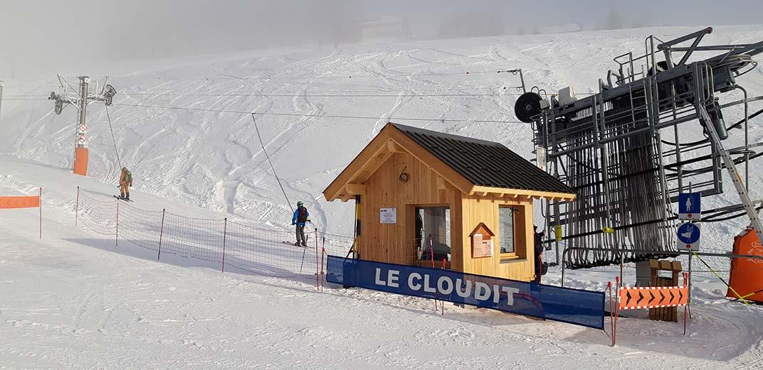 Mise en service du téléski Le Cloudit